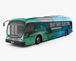 3D model of Proterra Catalyst E2 Bus 2016
