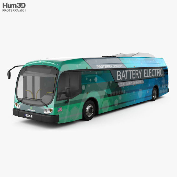 3D model of Proterra Catalyst E2 Bus 2016