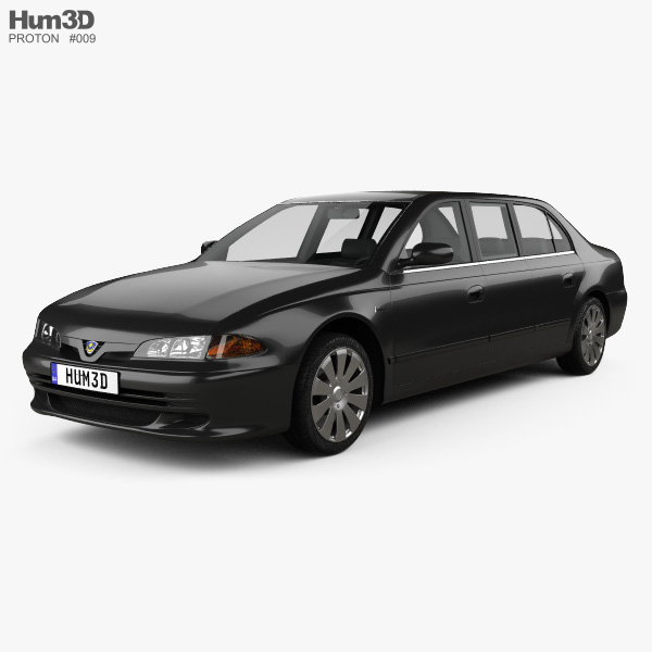 3D model of Proton Perdana Grand Limousine 2004