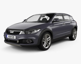 3D model of Qoros 3 Cross Hybrid 2014