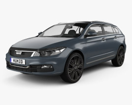 3D model of Qoros 3 estate 2014