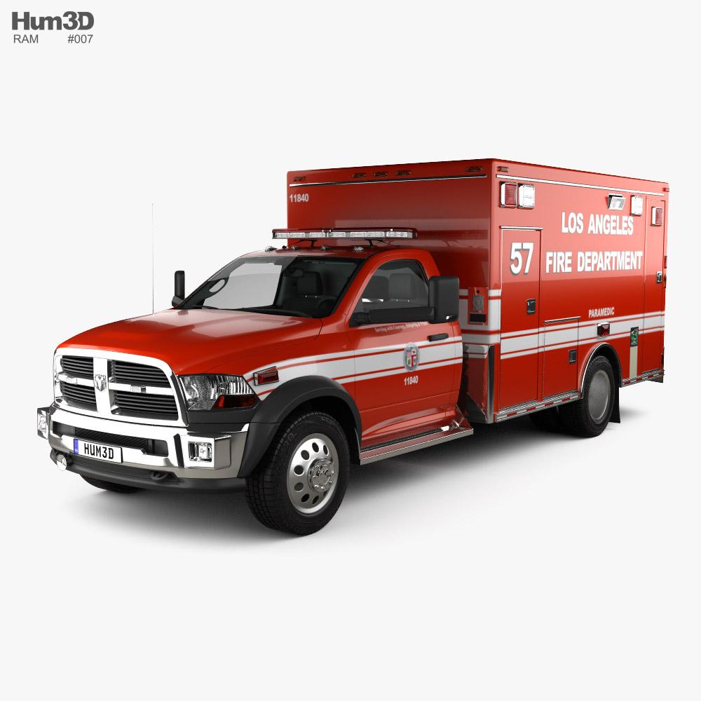 RAM LAFD Paramedic with HQ interior 2014 3D model