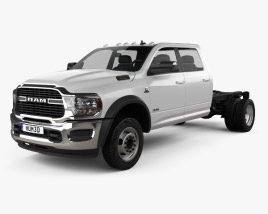 3D model of Ram 3500 Crew Cab Chassis SLT 2019