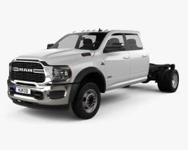 Ram 3500 Crew Cab Chassis SLT 2019 3D model