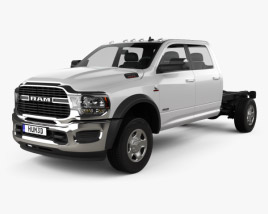 3D model of Ram 3500 Crew Cab Chassis SLT SRW 2019