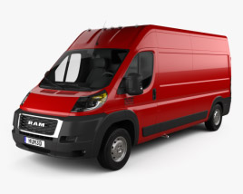 3D model of Ram ProMaster Cargo Van L3H2 2019