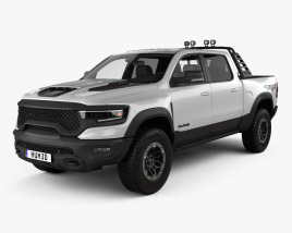 3D model of Ram 1500 Crew Cab TRX Mopar Performance Parts 2020