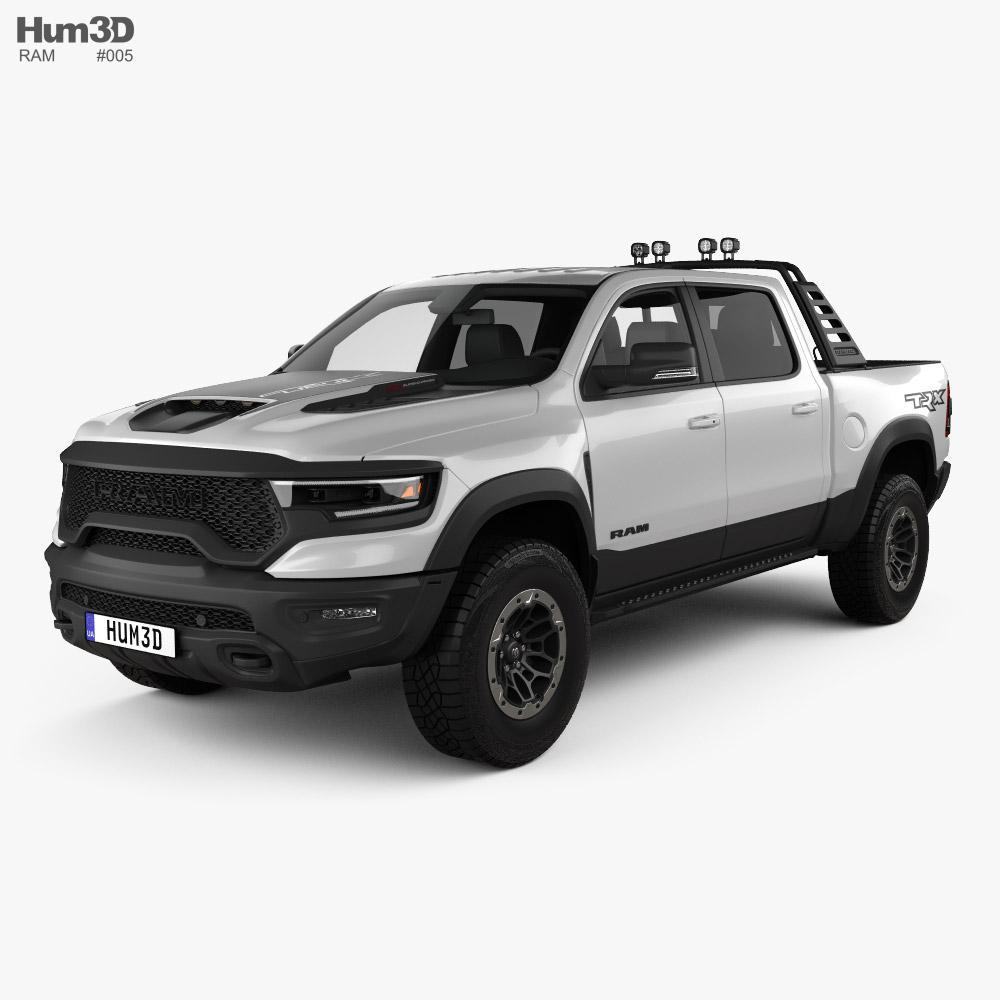 3D model of Ram 1500 Crew Cab TRX Mopar Performance Parts 2020