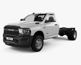 3D model of Ram 3500 Single Cab Chassis Tradesman DRW 84CA 2021