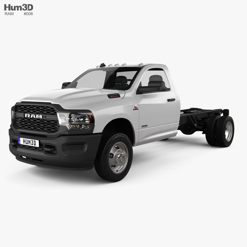 Ram 3500 Single Cab Chassis Tradesman DRW 84CA 2021 3D model