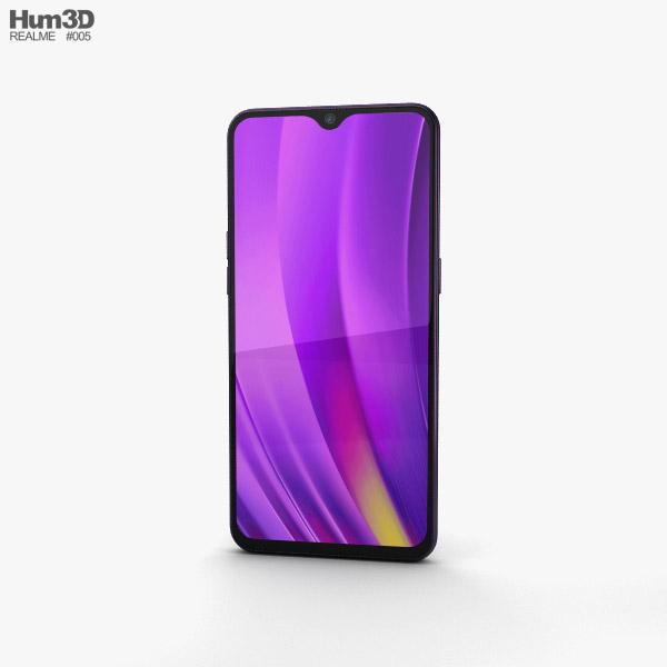 Realme 3 Pro Lightning Purple 3D model