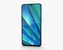 3D model of Realme 5 Pro Crystal Green