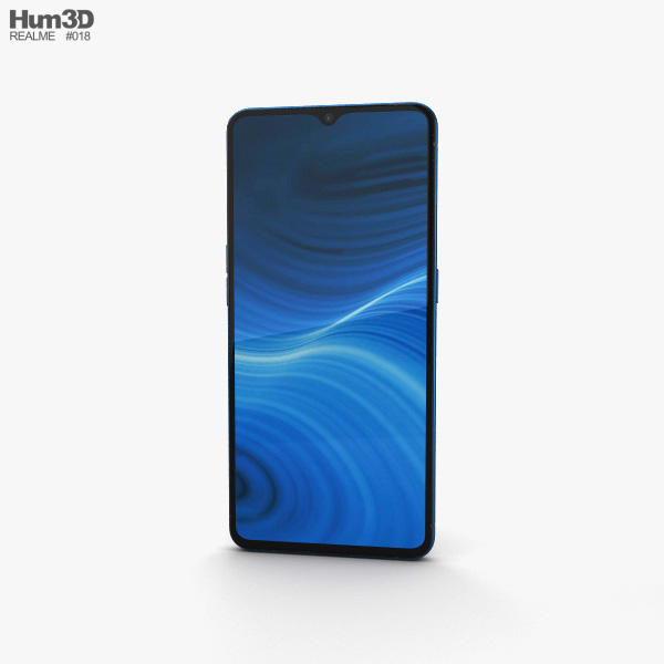 Realme X2 Pro Neptune Blue 3D model