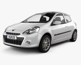 3D model of Renault Clio 3-door 2010
