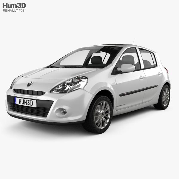 Renault Clio 5-door 2010 3D model
