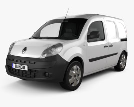 3D model of Renault Kangoo Van 2 Side Doors 2011