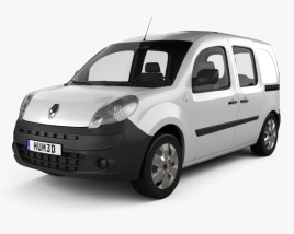 3D model of Renault Kangoo Van 2 Side Doors Glazed 2011