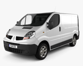 3D model of Renault Trafic Panel Van ShortWheelbase StandardRoof 2011