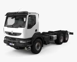 3D model of Renault Kerax Chassis 2011