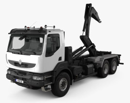 3D model of Renault Kerax Hook Loader 2011