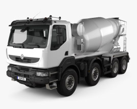 3D model of Renault Kerax Mixer 2011