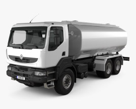 3D model of Renault Kerax Tanker 2011