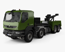 3D model of Renault Kerax Military Crane 2011