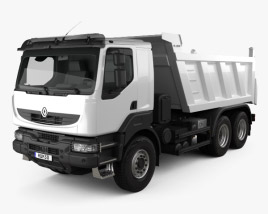 3D model of Renault Kerax Tiper 3-axle 2011