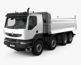 3D model of Renault Kerax Tiper 4-axle 2011