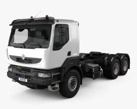 3D model of Renault Kerax Tractor Truck 2011