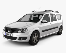 3D model of Renault Logan MCV 2011