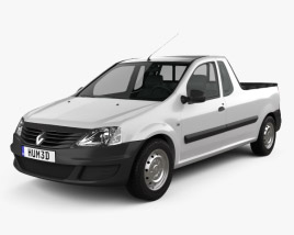 3D model of Renault Logan Pickup 2011