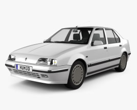 3D model of Renault 19 Sedan 1988