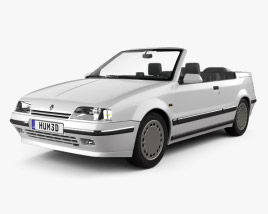 3D model of Renault 19 convertible 1988