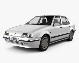 3D model of Renault 19 5-door hatchback 1988