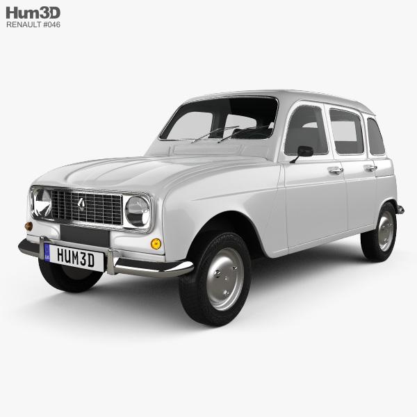 Renault 4 (R4) hatchback 1974 3D model