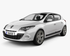 3D model of Renault Megane hatchback 2011