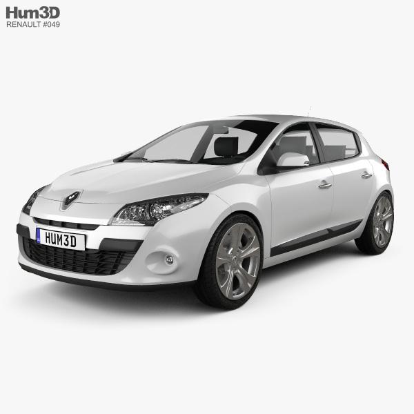 Renault Megane hatchback 2011 3D model
