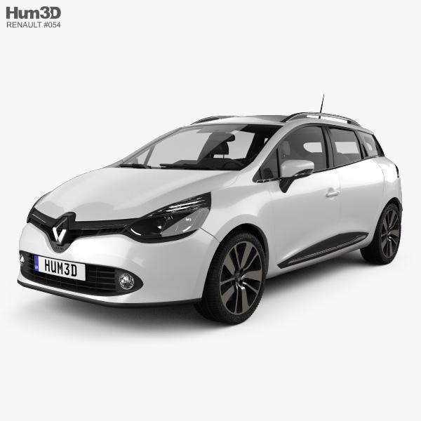 Renault Clio IV Estate 2013 3D model