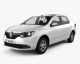3D model of Renault Symbol (Logan) 2013