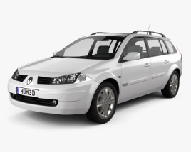 3D model of Renault Megane Grandtour 2003