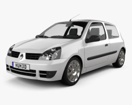 3D model of Renault Clio Mk2 3-door 2005