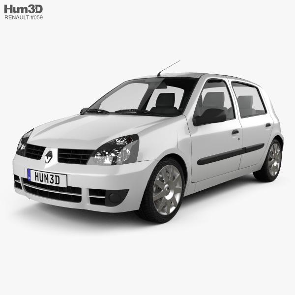 Renault Clio Mk2 5-door 2005 3D model