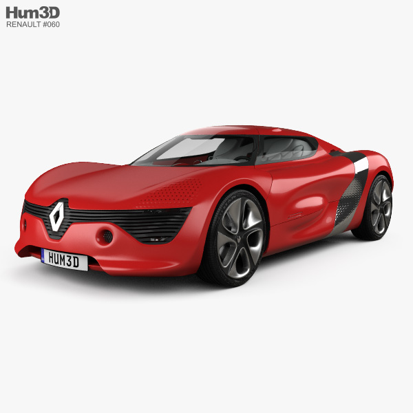 Renault DeZir with HQ interior 2012 3D model