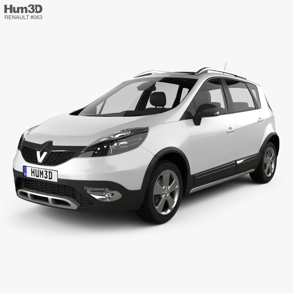 3D model of Renault Scenic XMOD 2013