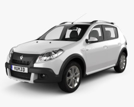 3D model of Renault Sandero Stepway (BR) 2011
