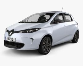 3D model of Renault Zoe 2013