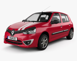 3D model of Renault Clio Mercosur Sport 5-door hatchback 2013