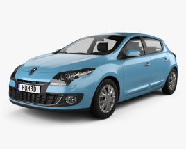3D model of Renault Megane 5-door hatchback 2013