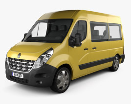 3D model of Renault Master Passenger Van 2010